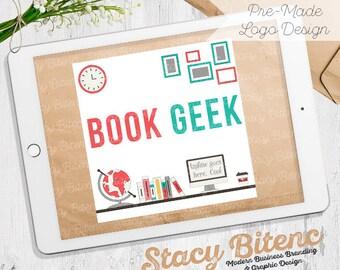 Desk logo - Book Geek logo - Etsy Shop Banner - Premade logo - business branding - Etsy Banner - Graphic Design - Branding Set