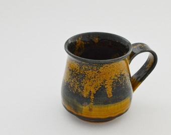 Gold-speckled Green Coffee Mug