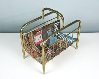 Mid Century Magazine Rack, Magazine Holder, Magazine Stand, Firewood Rack, Firewood Holder, Vintage Storage and Organization, Atomic Era