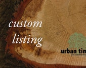 Custom Listing for Michele - Engraved Wood Tags