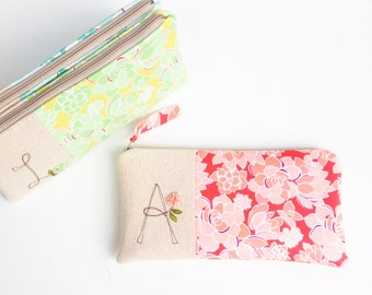 Succulent Baby Shower Hostess Gifts, Unique Monogram Clutch, Personalized Hostess Thank You Gift, Succulent Shower Theme MADE to ORDER