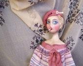Smoker Boudoir Flapper Bed Doll Handmade