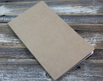 Traveler's Notebook Insert, Kraft Cover and Grid Pages
