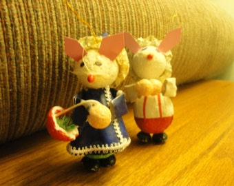 Pair of Mice Ornaments