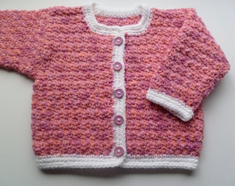 Baby Girl Sweater, Handmade And Ready To Ship, Size 9 Month