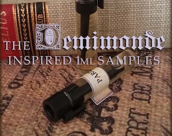 THE DEMIMONDE Gothic victorian inspired Perfume Oil Samples / Vegan handcrafted perfume oil / Victorian inspired