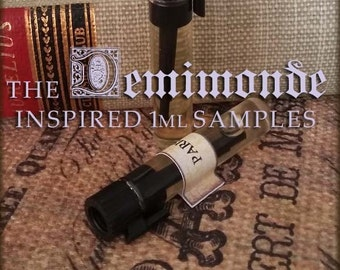 THE DEMIMONDE Gothic victorian Perfume Oil Samples / Vegan handcrafted perfume oil / Victorian inspired