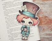 Alice in Wonderland - The Mad Hatter - bookmark - made to order