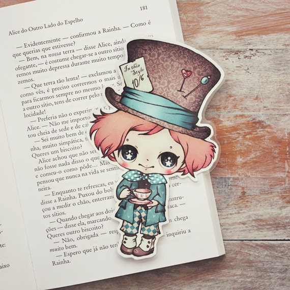 Alice in Wonderland - The Mad Hatter - bookmark