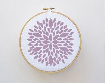 Cross Stitch Pattern of Flower - PDF File - Counted Cross Stitch, Cute Cross Stitch, X Stitch Pattern, Flower Cross Stitch Pattern