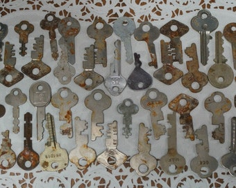 Lot of 50 Keys for Asemblage and Altered Art Great Patina
