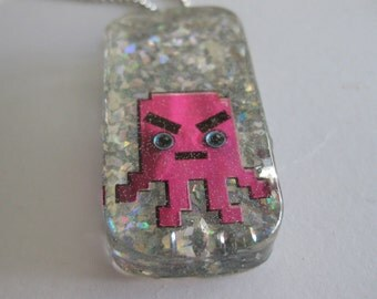 Little Purple Monster Necklace