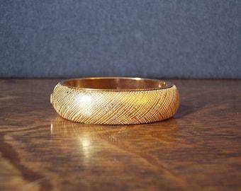 Vintage Monet Wide Gold Bangle Cuff Bracelet