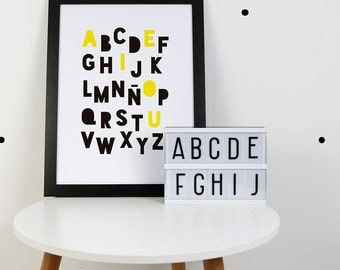 Digital Print: ABC Print Yellow (English & Spanish)