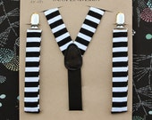 Black and White Striped Suspenders // Kids Suspenders // Boy Outfit // Costume Suspenders // Ring Bearer Outfit // Boy Outfit