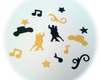Roaring 20's, Gatsby Party Confetti, Swing Dance, Jazz Music Table Sprinkles
