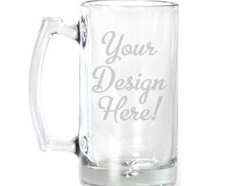 Customized Large Beer Mug - 25 oz. - 8520 Your Design Here!