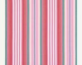 ON SALE - LITTLE Azalea - Dena Fishbein Designs - Begonia Stripe in Red  Pwdf177 - Free Spirit Fabric - By the Yard