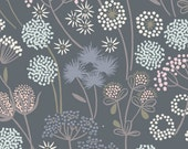 Woodland Nursery Fabric, Wishes in the Breeze on Slate A57.6, MAKE ANOTHER Wish, Lewis and Irene, Cotton Quilt Fabric, Fabric By the Yard
