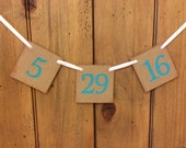 Save The Date Wedding Banner | Save The Date Sign | Save The Date Photo Prop