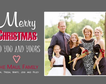 CH 6 - Photo Christmas Card (25 per set)