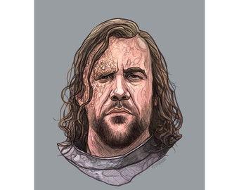 """The HOUND 5x7"""" GAME of THRONES limited edition print"""