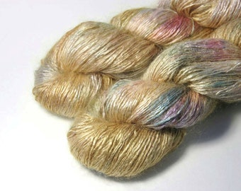 REI Tussah Silk Mohair in Golden Rainbow - One of a Kind