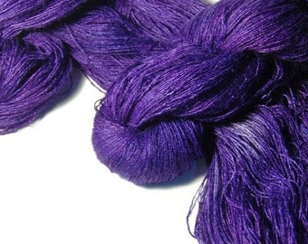 CHOCHO Tussah Silk Lace in Dark Iris - One of a Kind