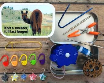 Knit a sweater, it'll last longer: Knitter's Tool Tin