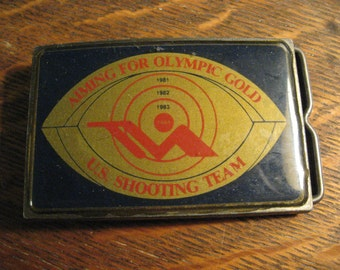 USA 1984 Olympic Belt Buckle - Los Angeles Olympics Games Rifle Shooting Team