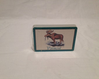 Vintage Deck  1990 Moose Themed Playing Cards Sealed New Old Stock Vermont Paper Ephemera Games CollectiblesAll Everything Else