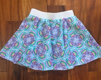 Women's sizes - Custom make in your size!  XS to 4x - Blue Pink White Yellow  - Circle Skirt or Gathered Skirt