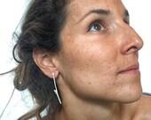 Woodland Earrings, Silver Twig Earrings, Silver Twig Earrings, Simple Twig Earrings, Elegant Twig Earrings
