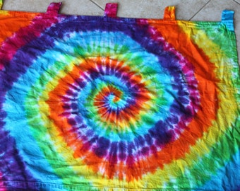 Tie dye Curtain panel upcycled