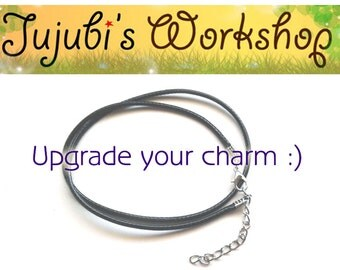 Upgrade your Charm into a Necklace with Imitation Leather Cord