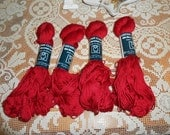 Cotton Classic from Tahki Deep Red 3424 - Four Skeins