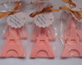 10 Eiffel Tower Soap Favors:  Bachelorette Favors, Bridal Favors, Wedding Favors, Paris Themed Birthday, Eiffel Tower Soap,