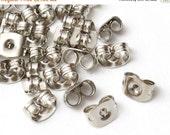 SALE 1000 pcs (500 pairs) Bulk Wholesale, Silver Earring Stoppers, Earring Backs, Earnuts, Ear Nuts, Surgical Steel, Hypoallergenic, A3-005