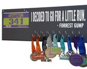 Perfect medal hangers to hang all your running medals - I decided to go for a little run. Forrest Gump medal hangers - gifts for runners