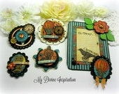 Handmade Graphic 45 Steampunk Spells Paper Embellishments and Tags for Scrapbooking Cards Mini Albums Tags and Papercrafts
