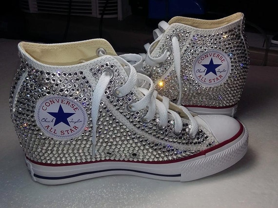 Sparkle Tennis Shoes For Wedding