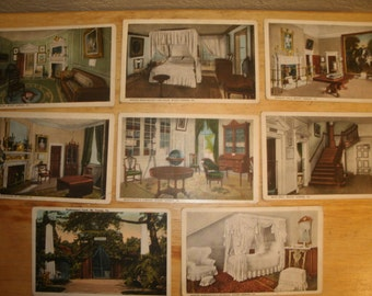 Lot of Twenty Vintage Post Cards of Mount Vernon
