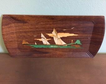 Vintage Hasko Sailing Tray