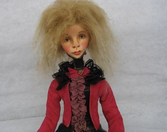 Linda Art doll OOAK doll Clay doll Collecting doll Human figure doll Art clay doll