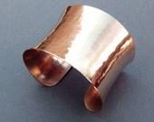 Shiny Bronze Cuff Bracelet Modern Metal Handmade Metalsmith Jewelry by Seventh Willow Bronze Anniversary Jewelry 8th Anniversary Gift