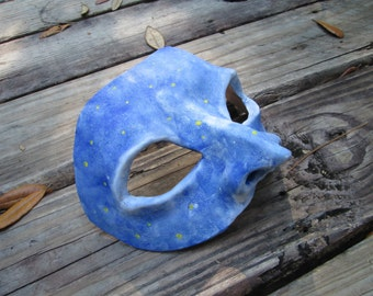 Starry night, cloudy skies, custom made, color choices, Mardi Gras, New Orleans, Masked Ball, costume mask