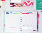 "2016 Weekly Planner Printable Pages - INSTANT DOWNLOAD PDF - Letter Size  (8.5"" x 11"")"