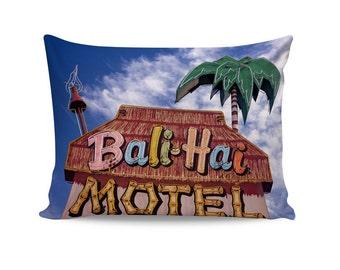 Tiki Motel Neon Sign Pillow Cover | Tropical Decor | Tiki Decor | Motel Sign Pillow Cover | Mid Century Modern Decor | Palm Springs Decor