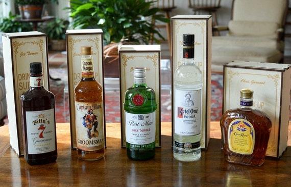 Personalised Wedding Gift Oak Bottle Box : Personalized Wood Single Bottle Spirits Gift Box or Liquor Caddy for ...