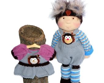 "Waldorf knitted doll Valentina 19"""
